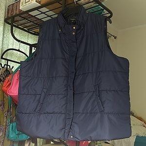 NWT Lane Bryant Navy Puffer Vest